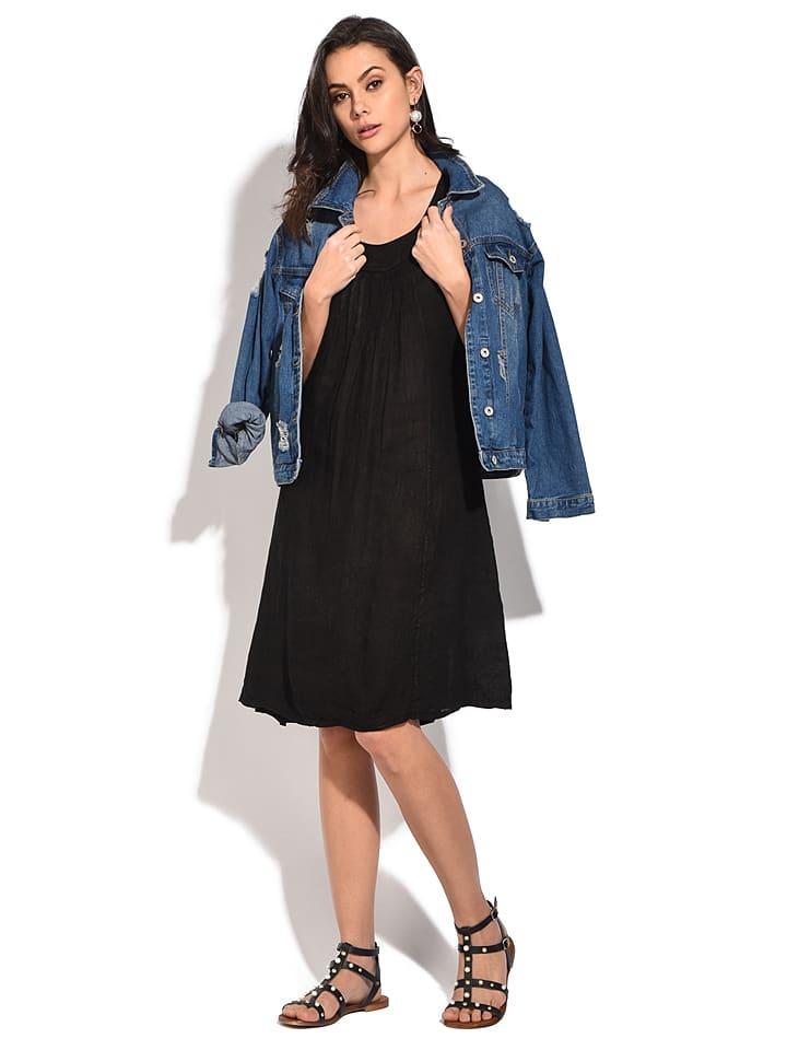 Linnen jurk zwart   limango Outlet