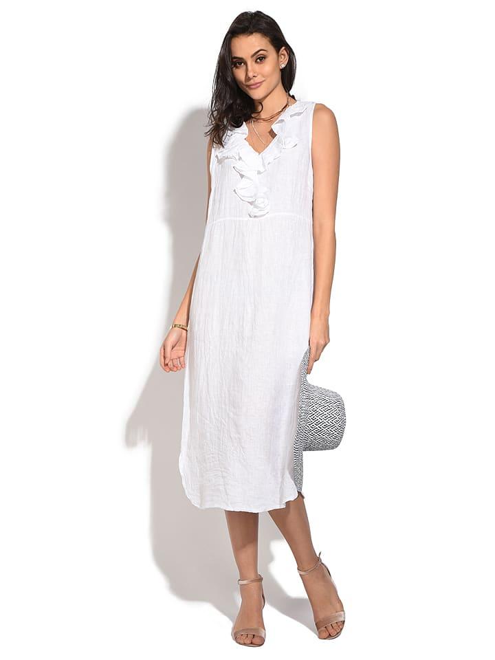 witte linnen jurk
