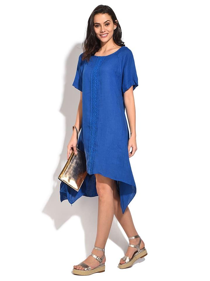 William de Faye Lniana sukienka w kolorze niebieskim