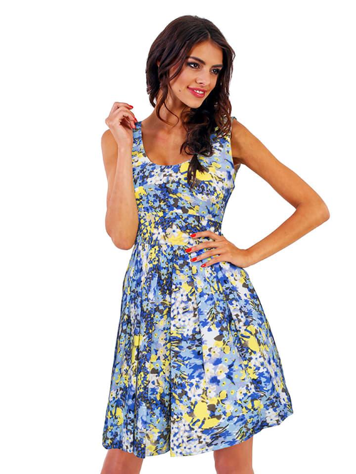 Marselini Sukienka w kolorze niebieskim ze wzorem
