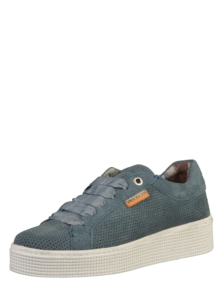 Dockers by Gerli Leder-Sneakers in Dunkelblau