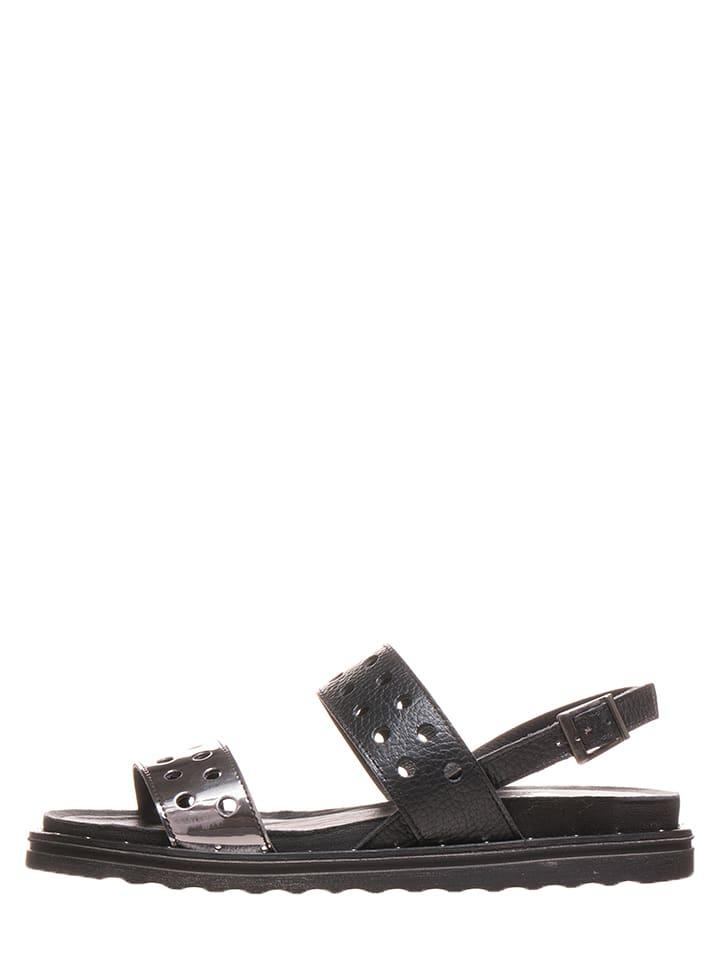 aca3f55e508a6d Otto Kern - Leren sandalen zwart   limango Outlet