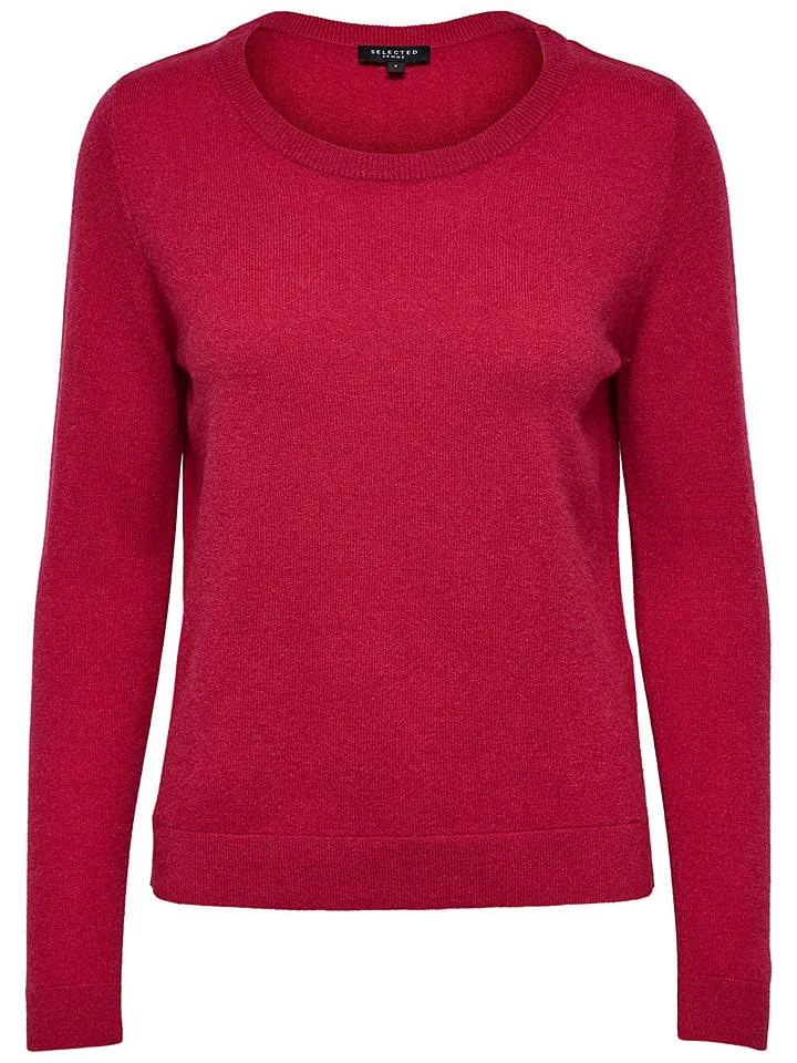 SELECTED FEMME Kaszmirowy sweter w kolorze jagodowym