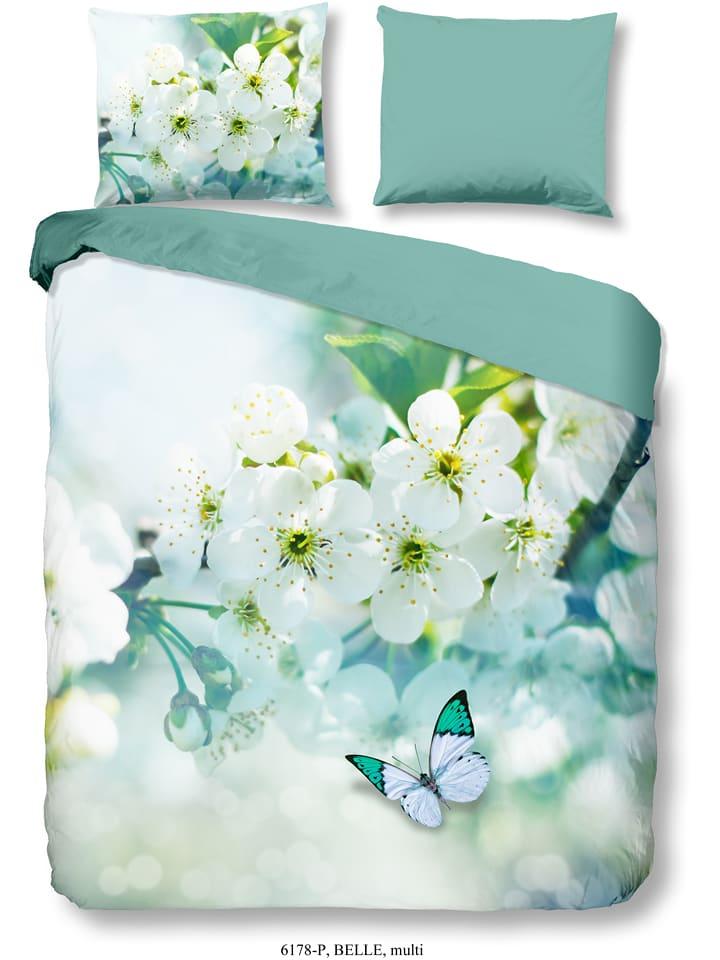 "Good Morning Beddengoedset ""Belle"" turquoise"
