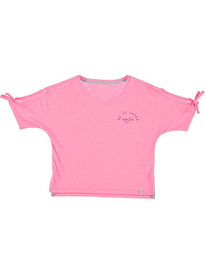 ESPRIT  Shirt in Pink | 59% Rabatt | Größe 140/146 | Kinder oberteile | 03663760750553