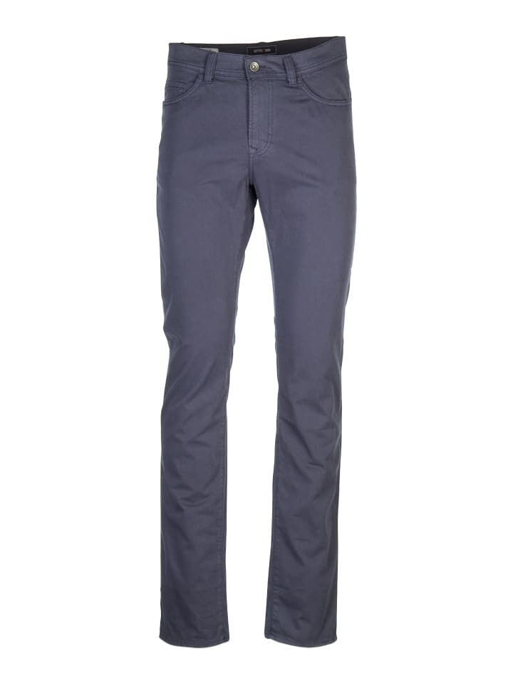 "Otto Kern Hose ""John"" - Straight fit - in Dunkelblau"