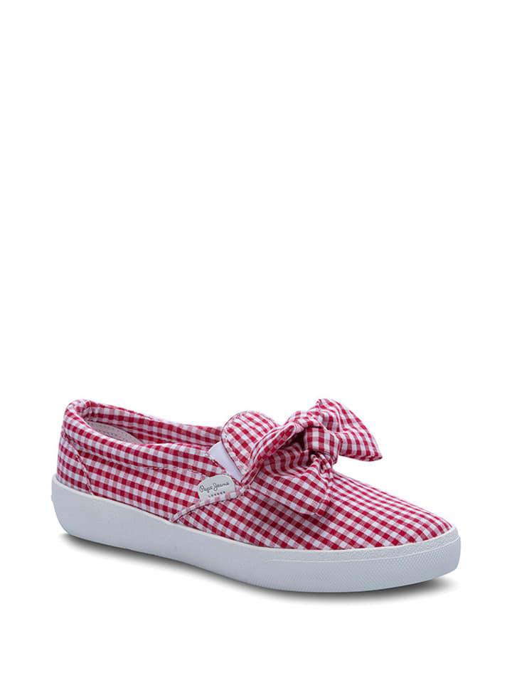 Pepe Jeans Slippersy w kolorze biało-czerwonym
