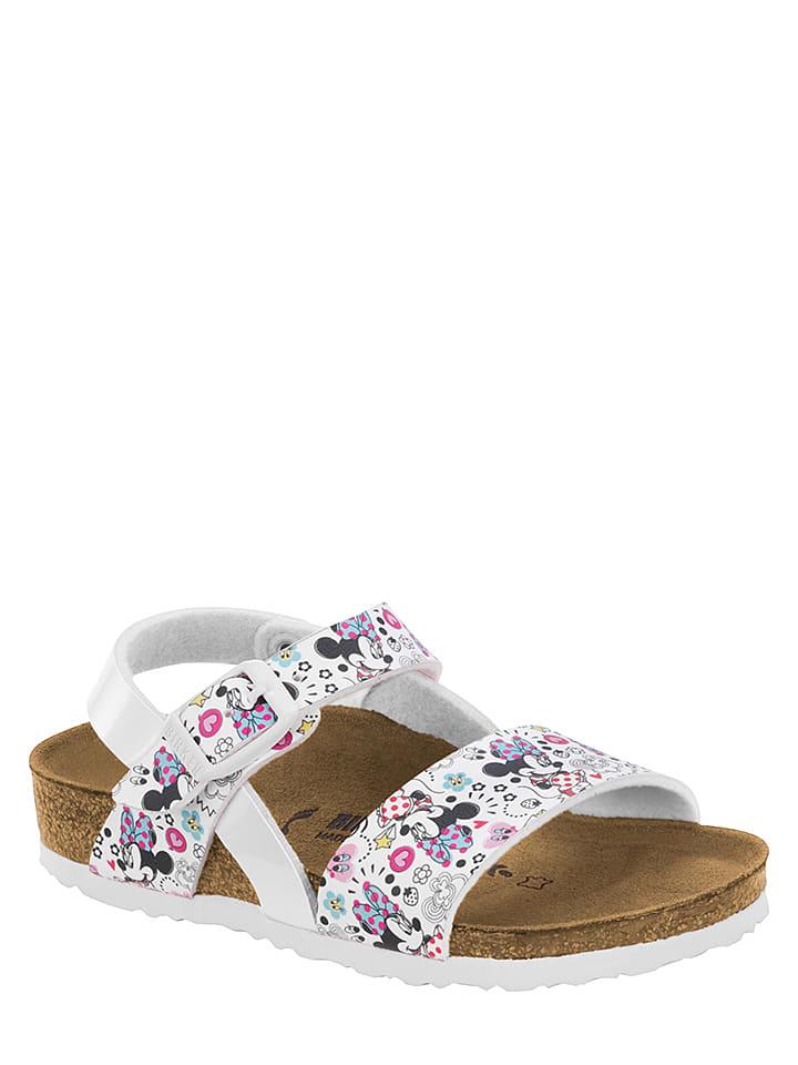 """Birkenstock Sandalen """"Lovely Minnie"""" wit/meerkleurig - wijdte S"""