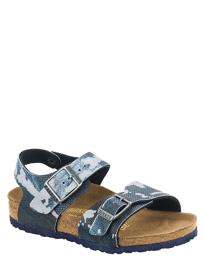 """Birkenstock Sandalen """"New York"""" blauw - wijdte N"""