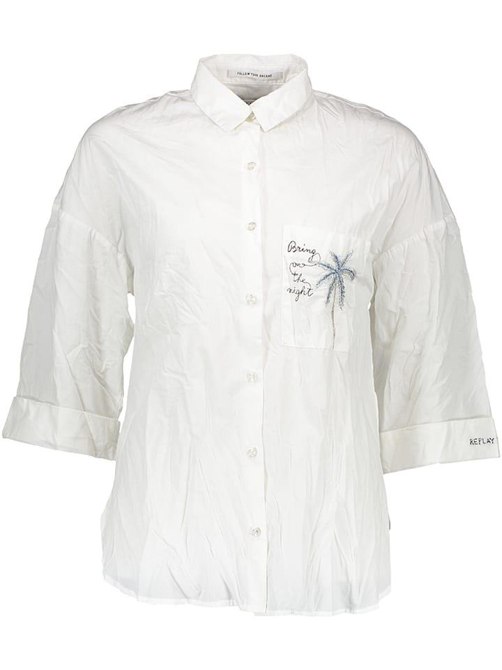 Replay Bluzka w kolorze białym