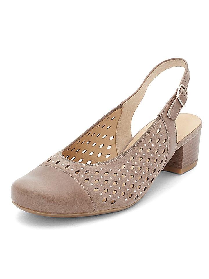 "Ara Shoes Leder-Pumps ""Brügge"" in Taupe"