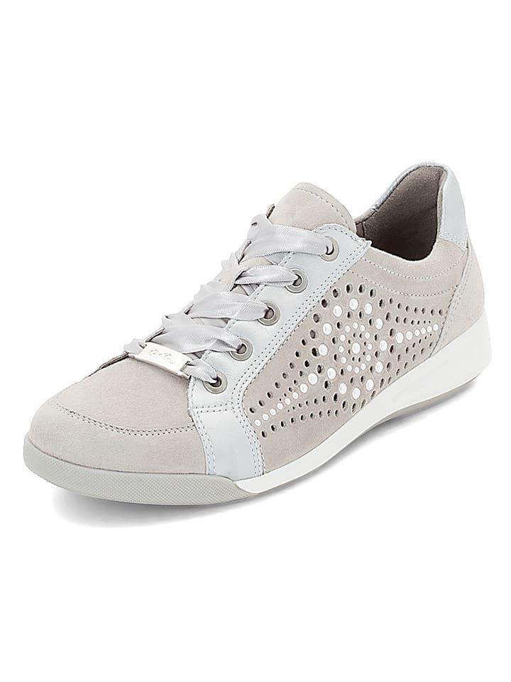 """Ara Shoes Leder-Sneakers """"Rom"""" in Grau"""
