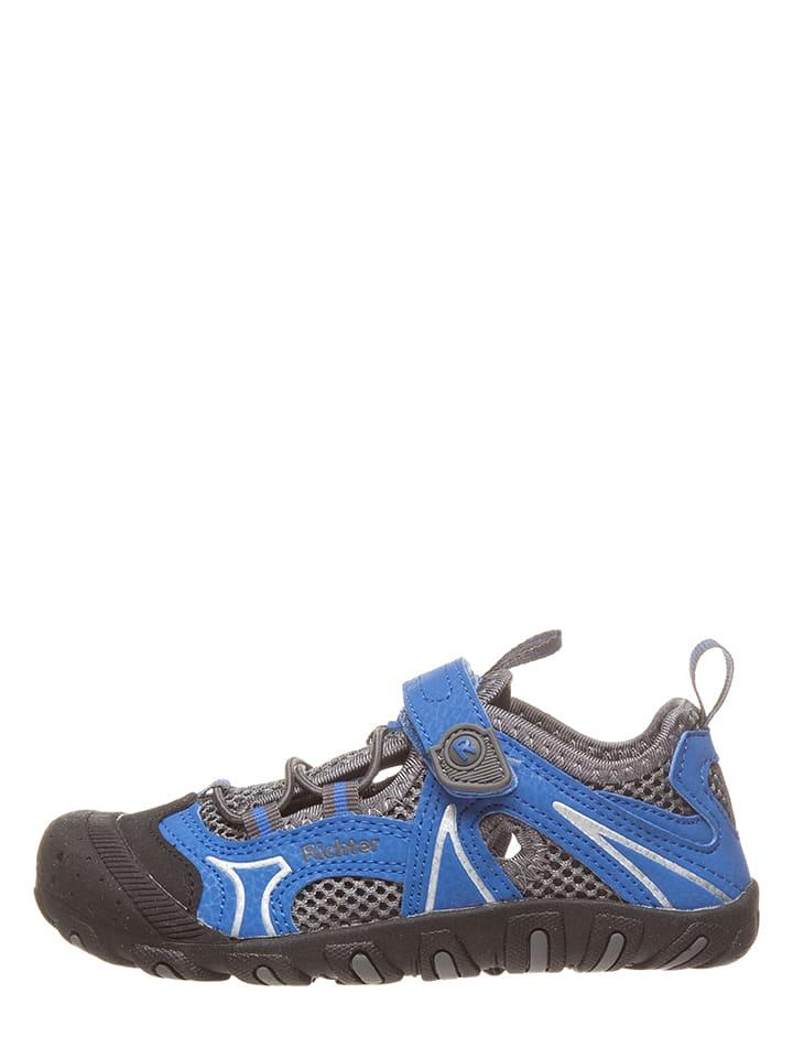 Richter Shoes Półsandały w kolorze szaro-niebieskim