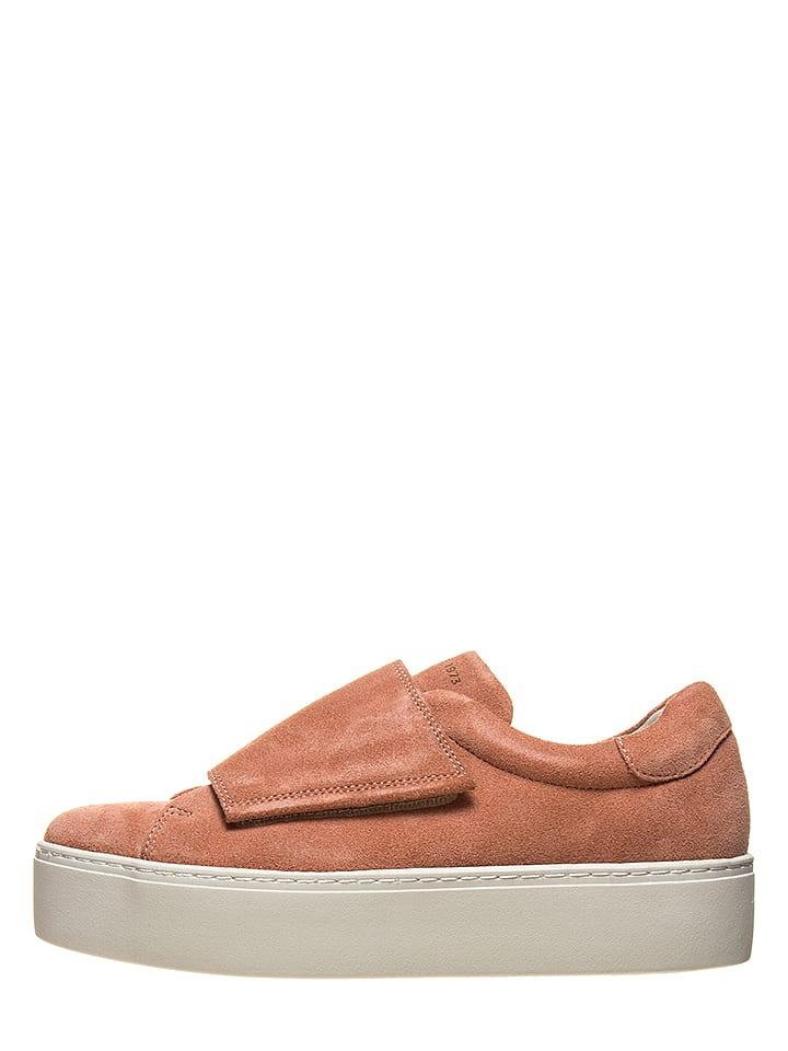 """Vagabond Skórzane sneakersy """"Jessy"""" w kolorze jasnoróżowym"""