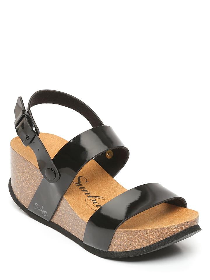 Sunbay Sandały w kolorze czarnym