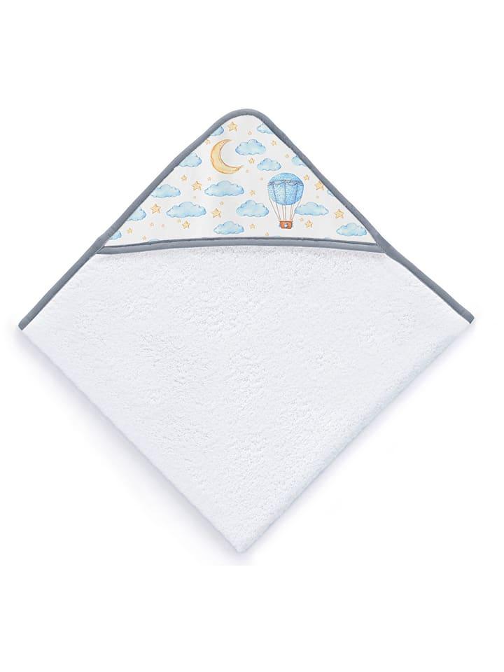 """Tanuki Ręcznik """"Airballon"""" w kolorze białym ze wzorem z kapturem - 100 x 100 cm"""
