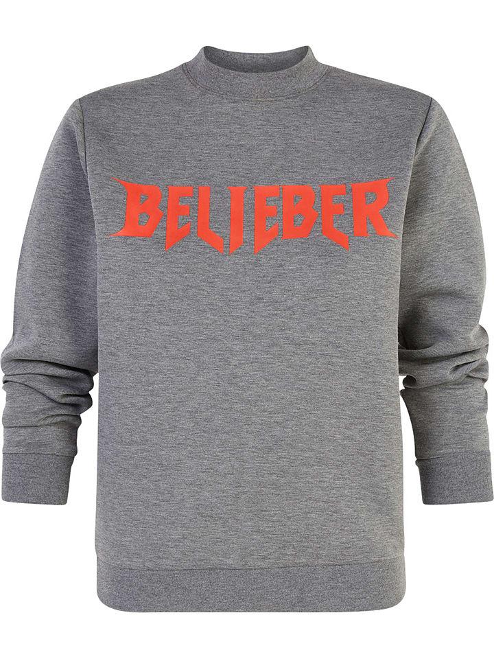 """Undiz Sweatshirt """"Lesweatiz Bigfaniz"""" grijs"""