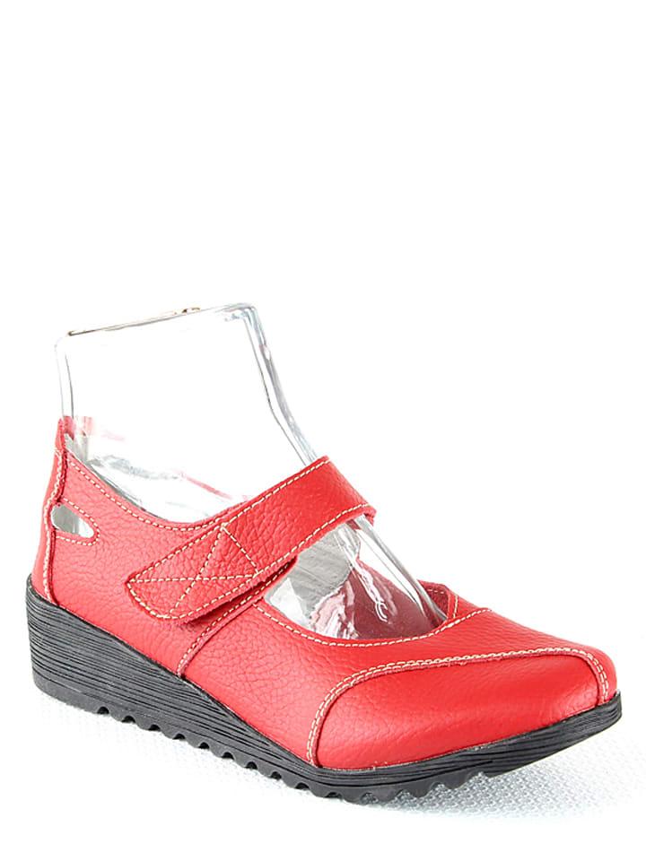 963221aa570 Suredelle - Chaussures basses en cuir - rouge