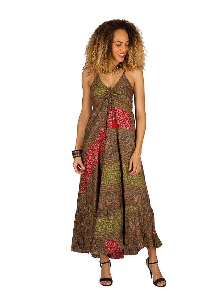 Ipanima Sukienka w kolorze brązowo-zielono-czerwonym