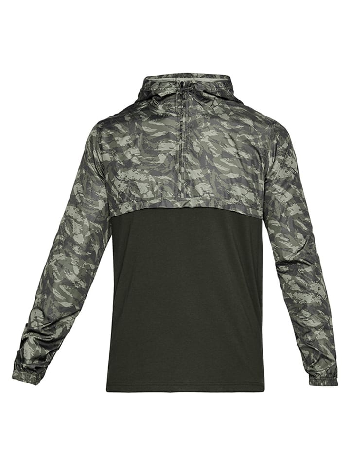 Under Armour Kurtka w kolorze ciemnozielonym ze wzorem