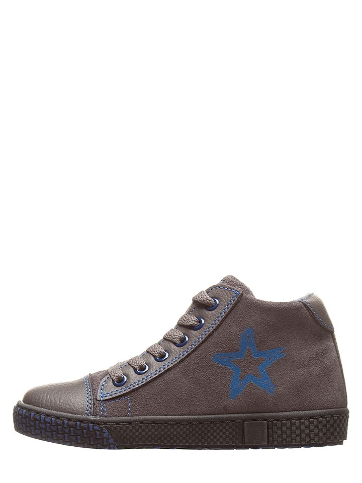 Ciao Skórzane sneakersy w kolorze szaro-niebieskim