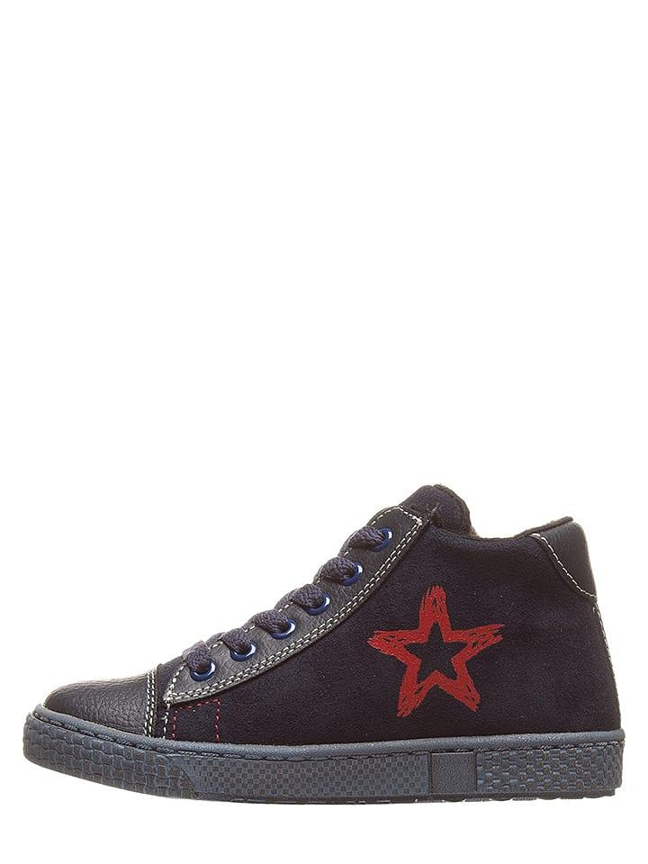 Ciao Skórzane sneakersy w kolorze granatowo-czerwonym