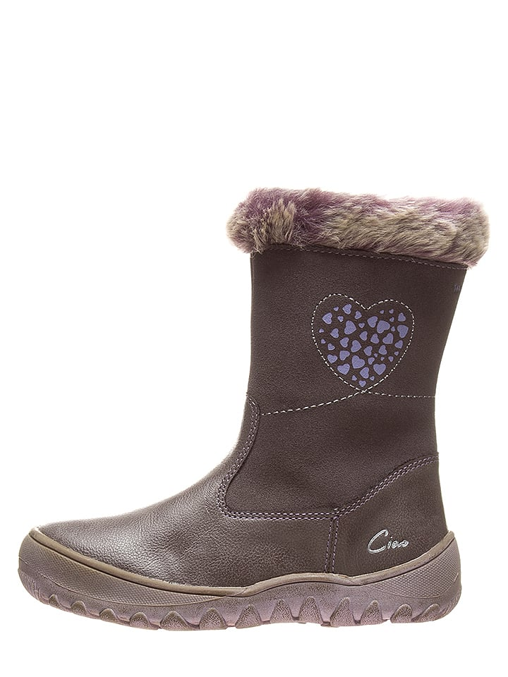 Ciao Stiefel in Taupe/ Lila