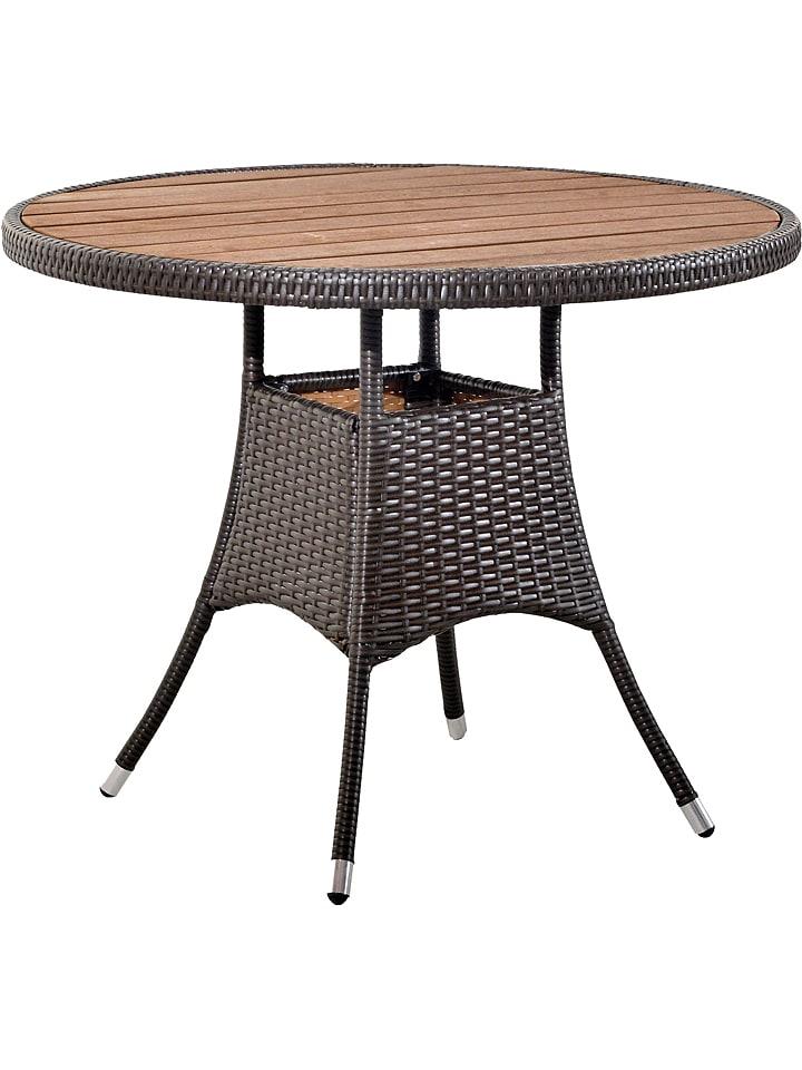 Pondecor Table De Jardin Villena Marron 74 X 90 Cm Outlet