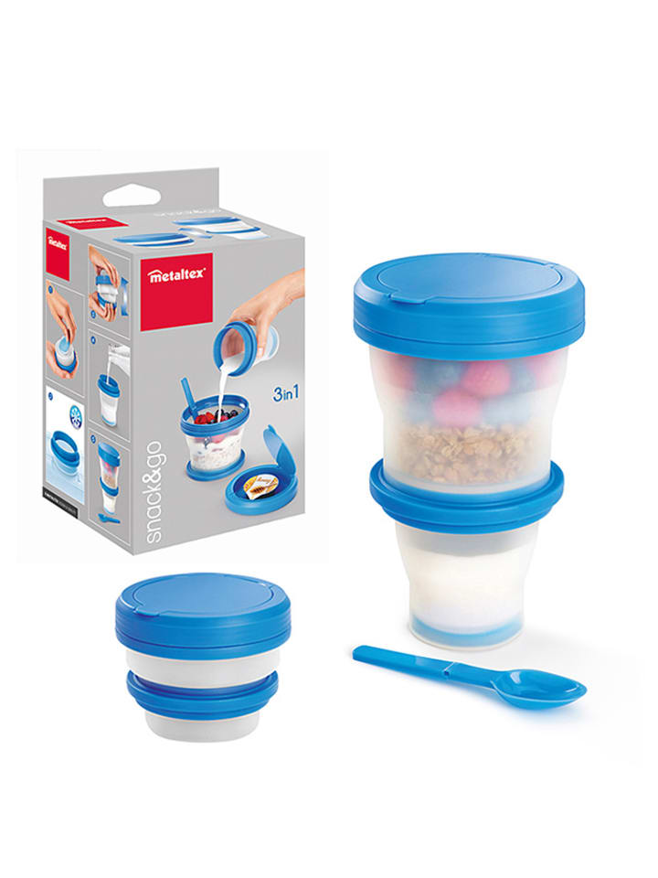 Metaltex Pojemnik w kolorze niebieskim na jogurt - (S)11 x (W)18,3 x (G)5,8 cm