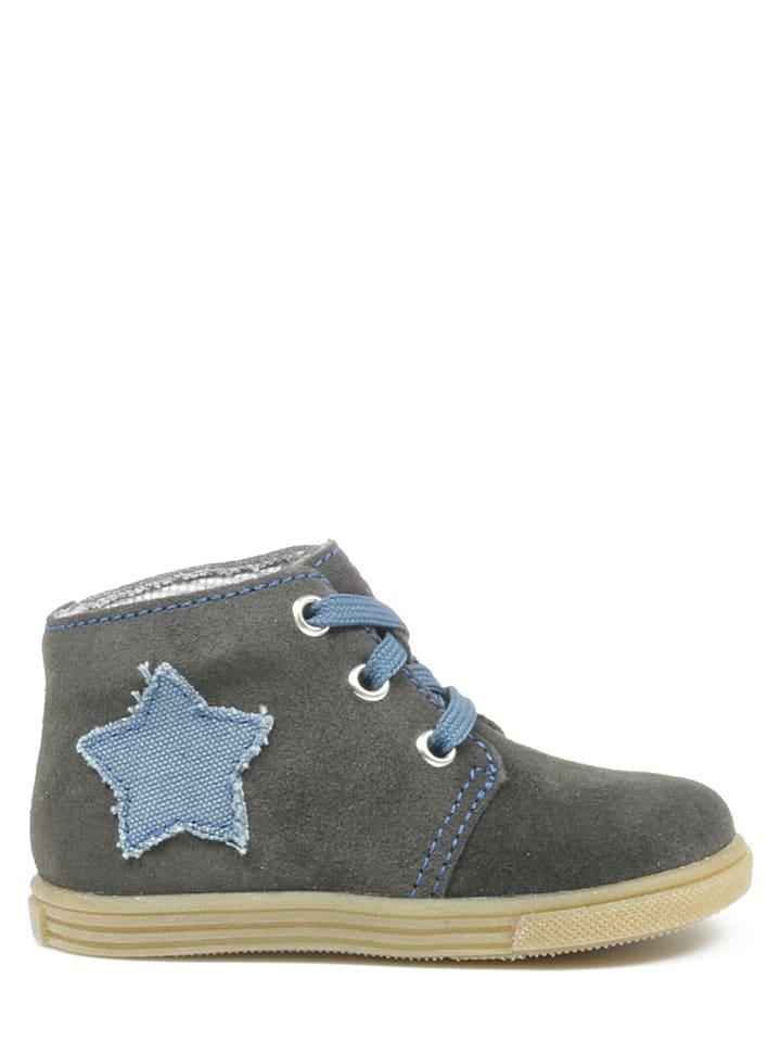 Richter Shoes Leren sneakers grijs