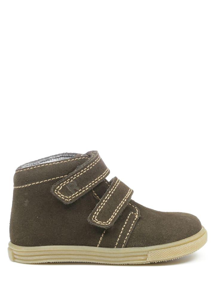 Richter Shoes Skórzane sneakersy w kolorze brązowym
