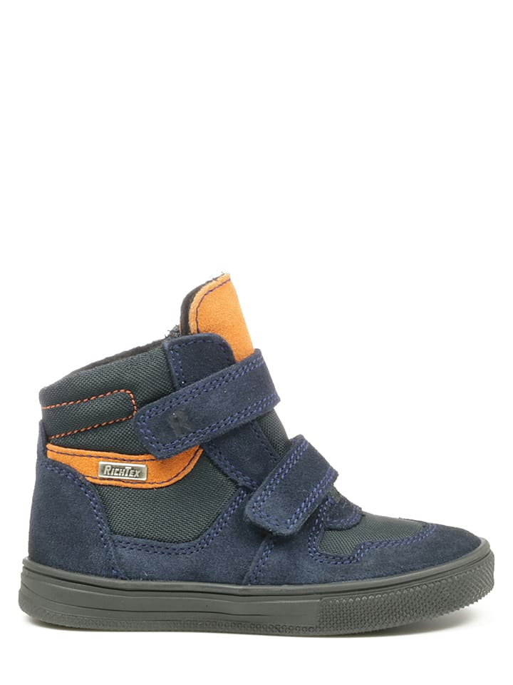 Richter Shoes Sneakersy w kolorze granatowo-pomarańczowym