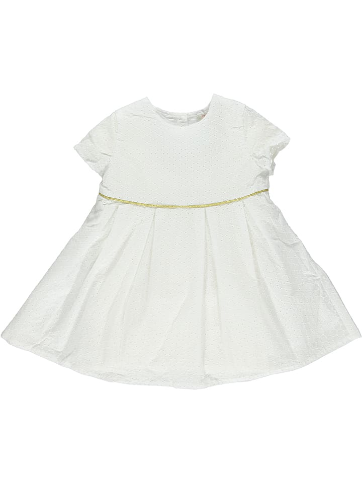 ESPRIT Robe - blanc/doré