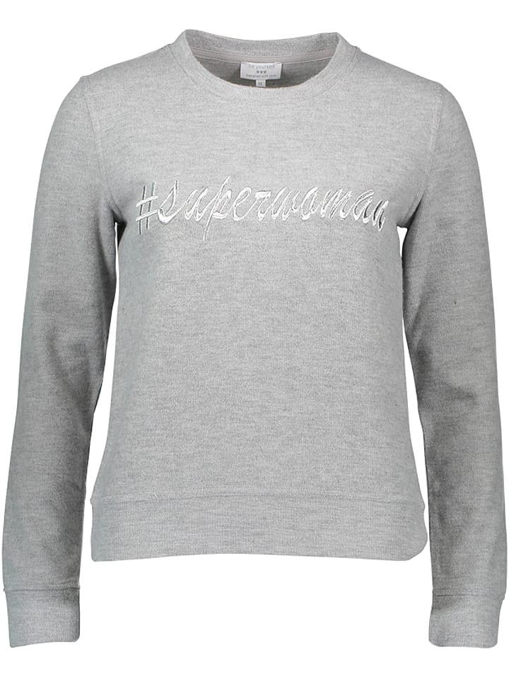 Be yourself Sweatshirt grijs