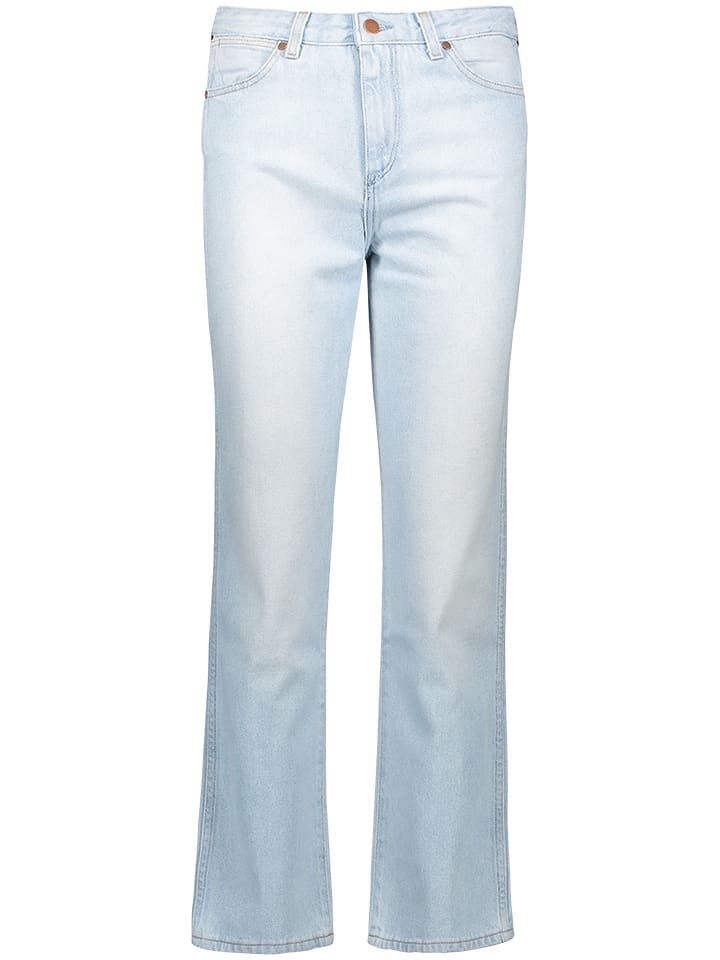 Wrangler Dżinsy - Straight fit - w kolorze błękitnym