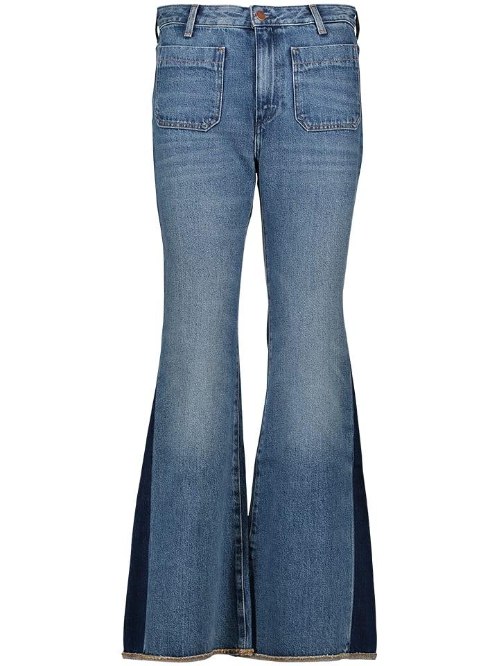 Wrangler Dżinsy - Flared - w kolorze niebieskim