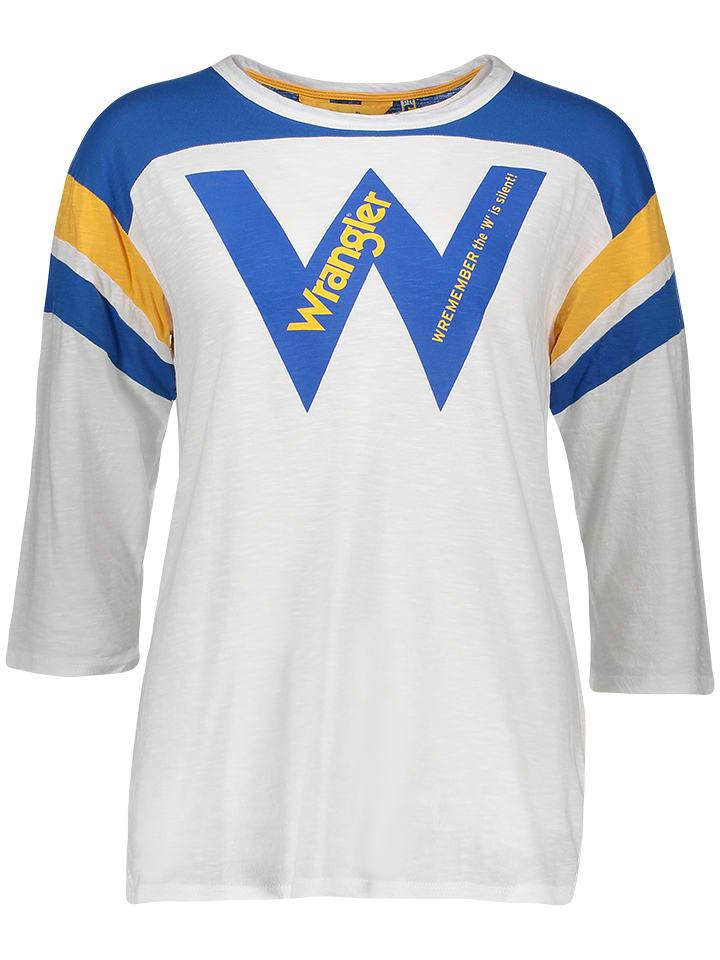 Wrangler Koszulka w kolorze białym