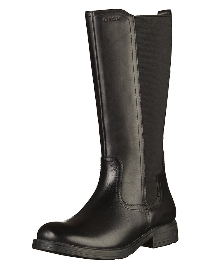 100% authentic 45a71 3abf9 Geox - Leder-Stiefel in Schwarz   limango Outlet