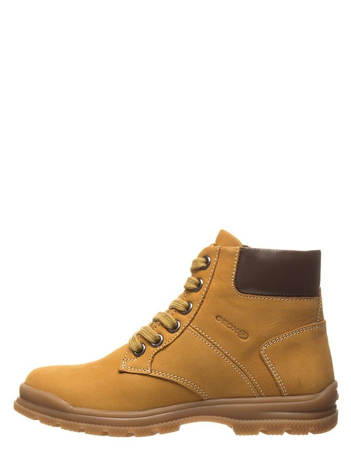 "Geox Leder-Boots ""Navado"" in Hellbraun"