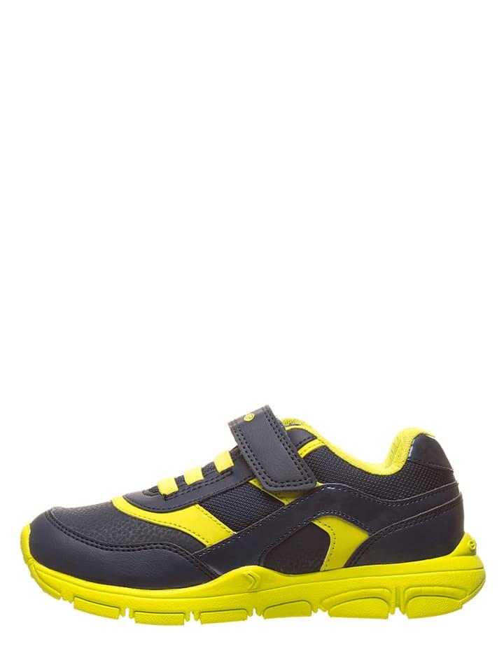 Geox Sneakersy w kolorze granatowo-żółtym