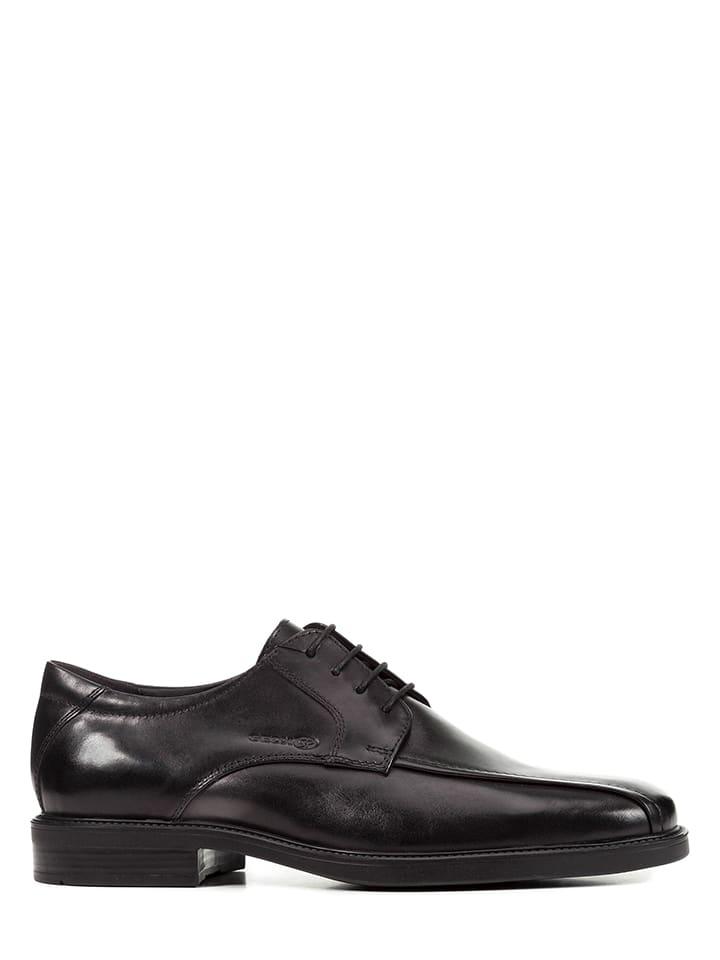 """Geox Chaussures à lacets en cuir """"Brandolf"""" - noir"""