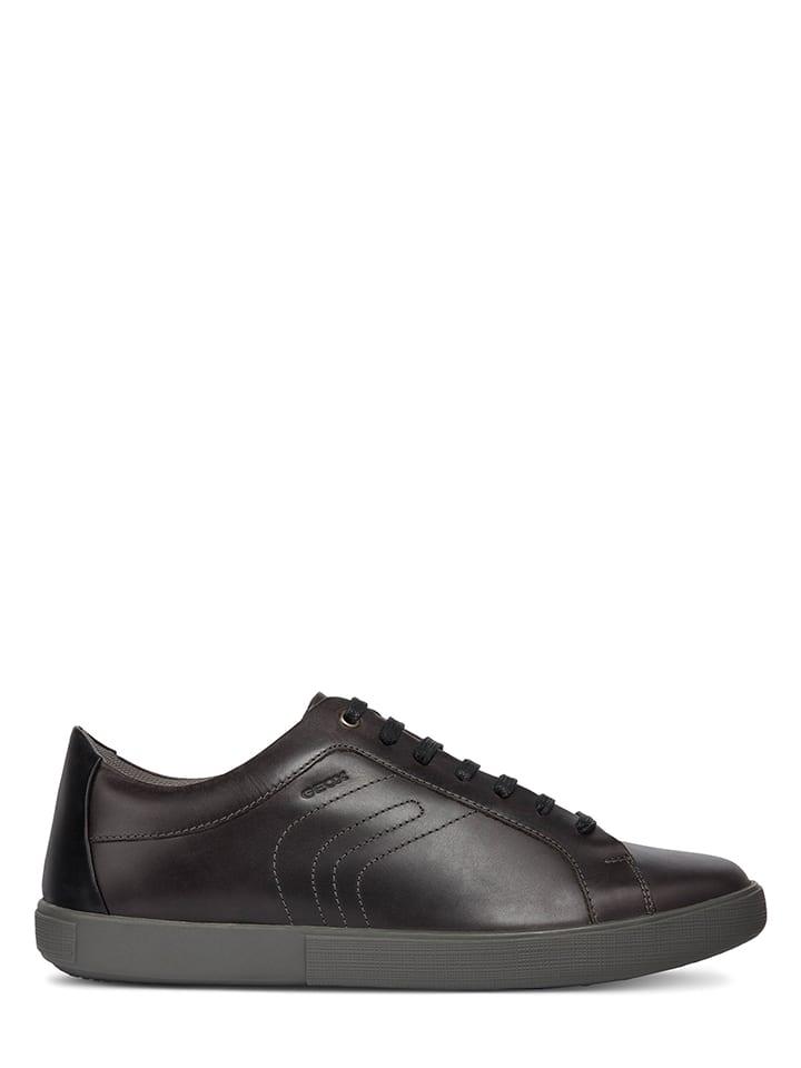 Geox Skórzane sneakersy w kolorze szarym