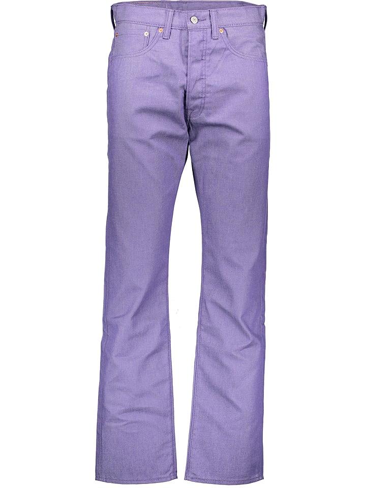 """Levi´s Dżinsy """"501"""" - Regular Fit - w kolorze fioletowym"""