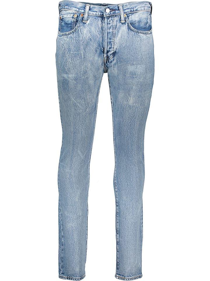 """Levi´s Dżinsy """"501"""" - Skinny fit - w kolorze błękitnym"""