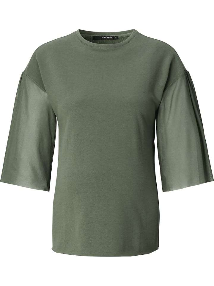 Noppies T-shirt de maternité manches mi-longues - vert olive