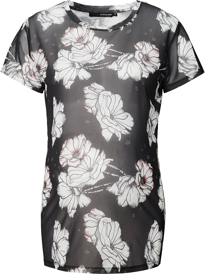 Supermom T-shirt de maternité - noir/blanc