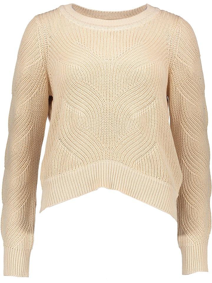 """Object Sweter """"Salon"""" w kolorze beżowym"""