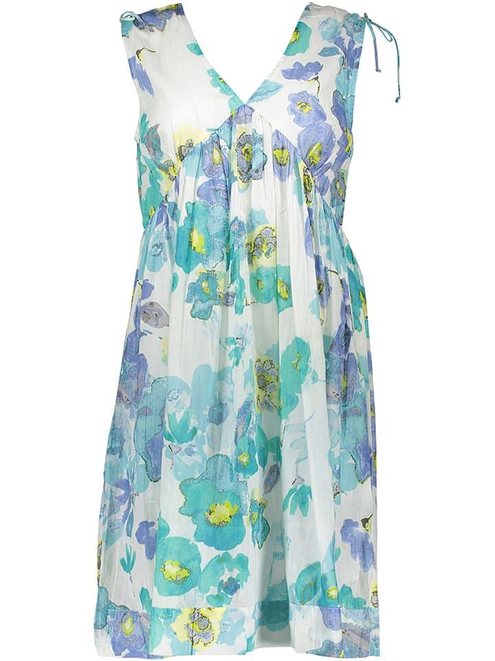 Palme Sukienka w kolorze niebiesko-turkusowo-białym