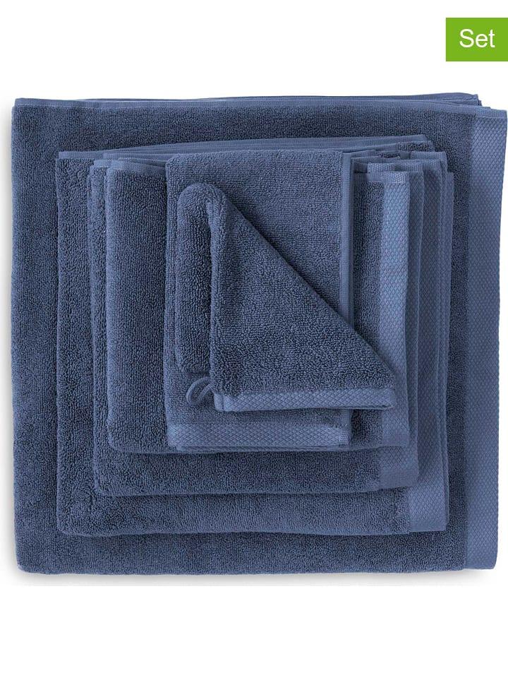 HNL 2-delige set: badhanddoeken blauw