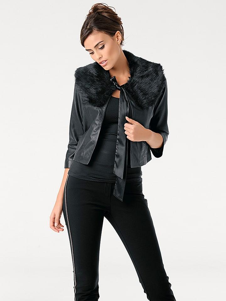 Ashley brooke by heine Skórzana kurtka w kolorze czarnym
